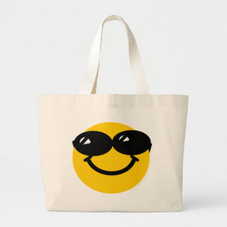 Cool dude smiley large tote bag