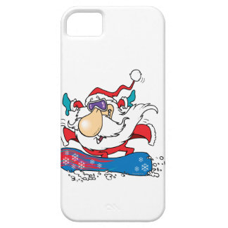 cool dude snowboarding santa claus iPhone 5 covers