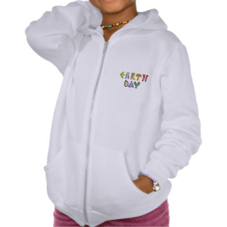Cool Earth Day Custom Zip Hoodie Girls White