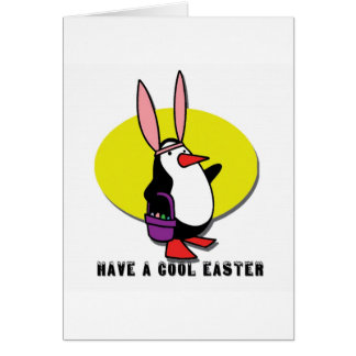 Easter penguin gifts t shirts art posters other gift ideas cool easter bunny penguin card negle Images