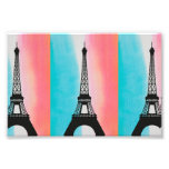 Cool Eiffel Tower Paris colourful background Photo Art