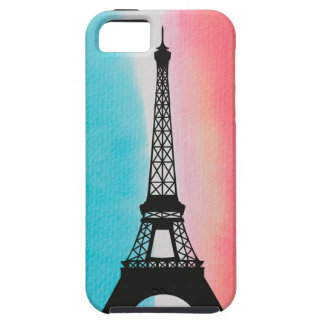 Cool Eiffel Tower Paris iron colourful background iPhone 5 Case