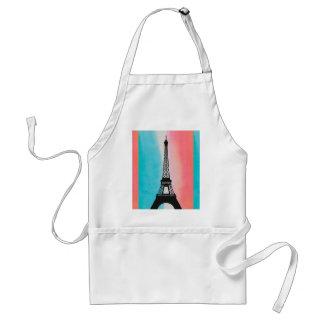 Cool Eiffel Tower Paris iron colourful background Standard Apron