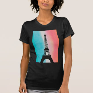 Cool Eiffel Tower Paris iron colourful background T-Shirt