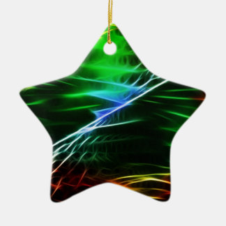 Cool electric green christmas tree ornament