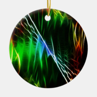 Cool electric green round ceramic decoration