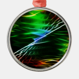 Cool electric green Silver-Colored round decoration