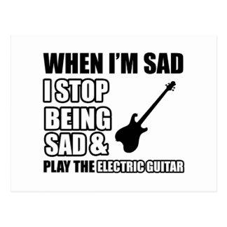 Cool Electric guitar designs Postcard