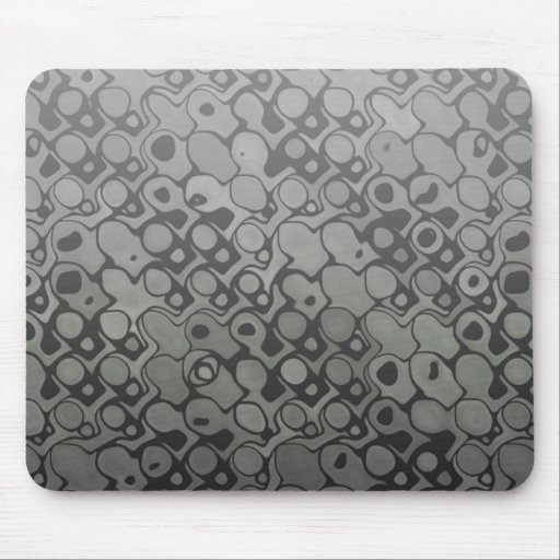Cool elegant abstract black and white mousepad
