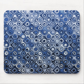 Cool elegant abstract dark blue mousepad