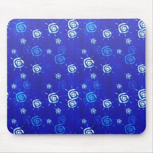 Cool elegant abstract pattern  blue sun mousepad