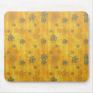 Cool elegant abstract pattern  orange sun mousepad