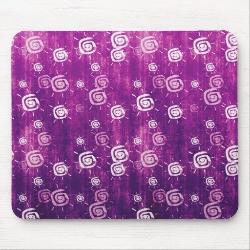 Cool elegant abstract purple sun mousepad