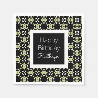 Cool & Elegant Birthday Disposable Serviette
