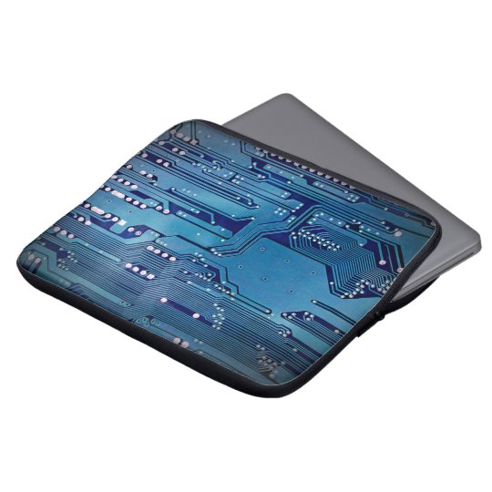Cool Elegant Blue Computer Circuit Board Laptop Computer