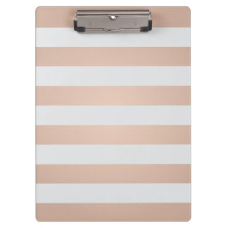 Cool Elegant Girly Rose Light Grey Striped Clipboards
