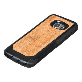 Cool elegant light brown bamboo wood print OtterBox samsung galaxy s7 case