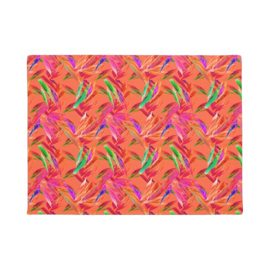 "Cool & Elegant Orange Abstract 18"" x 24"""