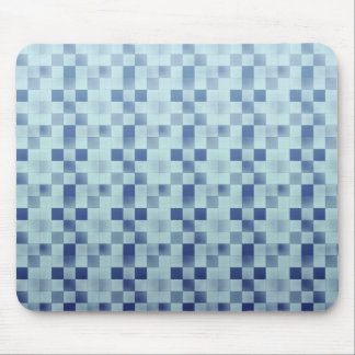 Cool elegant retro patchwork blue mousepad