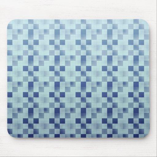 Cool elegant retro patchwork blue mousepad