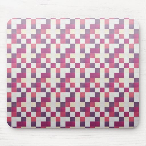 Cool elegant retro patchwork pink mousepad
