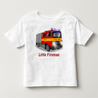 Cool Emergency Fire Engine Cartoon Design for Kids Toddler T-Shirt