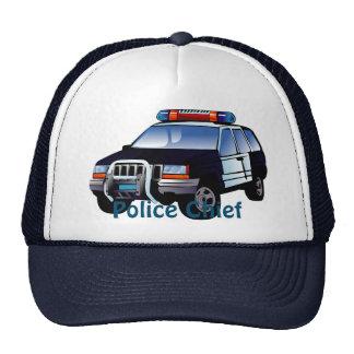 Cool Emergency Police Car Cartoon Design for Kids Cap