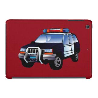 Cool Emergency Police Car Cartoon Design for Kids iPad Mini Retina Covers