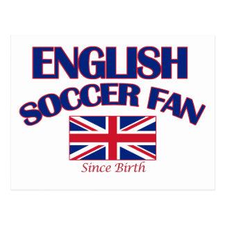 cool english soccer fan DESIGNS Postcard