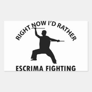 cool Escrima  designs Rectangular Stickers