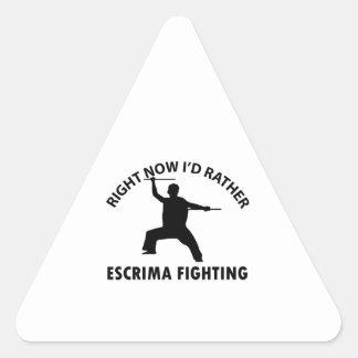 cool Escrima designs Triangle Sticker