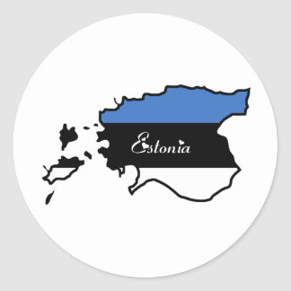 Cool Estonia Classic Round Sticker