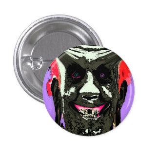 cool evil looking guy 3 cm round badge