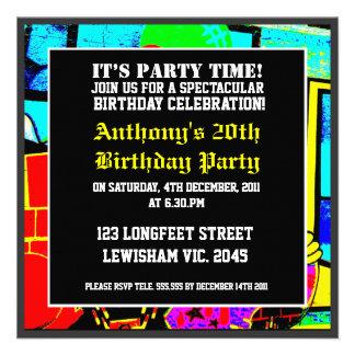 Cool Face Birthday Invitation