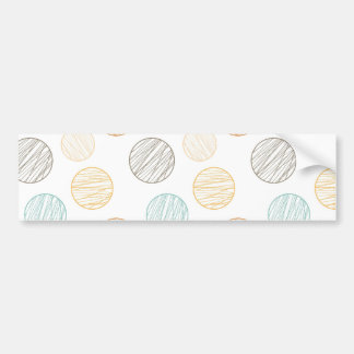 Cool Faded Colorful Balls of Yarn Pattern Gifts Bumper Sticker