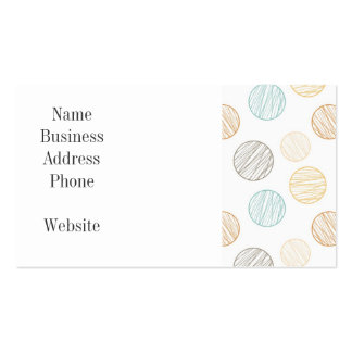 Cool Faded Colorful Balls of Yarn Pattern Gifts Double-Sided Standard Business Cards (Pack Of 100)