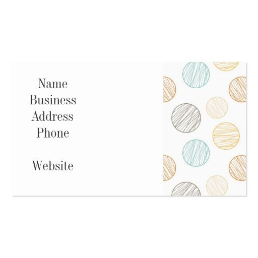 Cool Faded Colorful Balls of Yarn Pattern Gifts Business Card Template