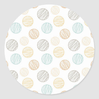 Cool Faded Colorful Balls of Yarn Pattern Gifts Round Sticker