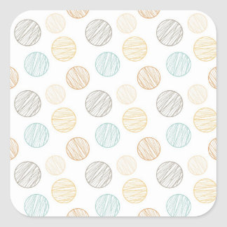 Cool Faded Colorful Balls of Yarn Pattern Gifts Square Sticker