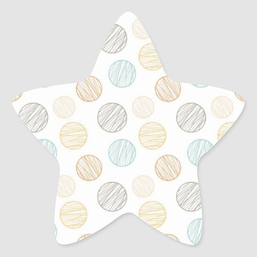 Cool Faded Colorful Balls of Yarn Pattern Gifts Star Stickers