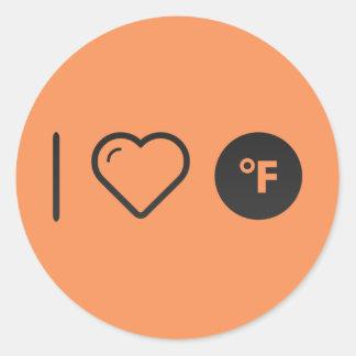 Cool Fahrenheits Round Sticker