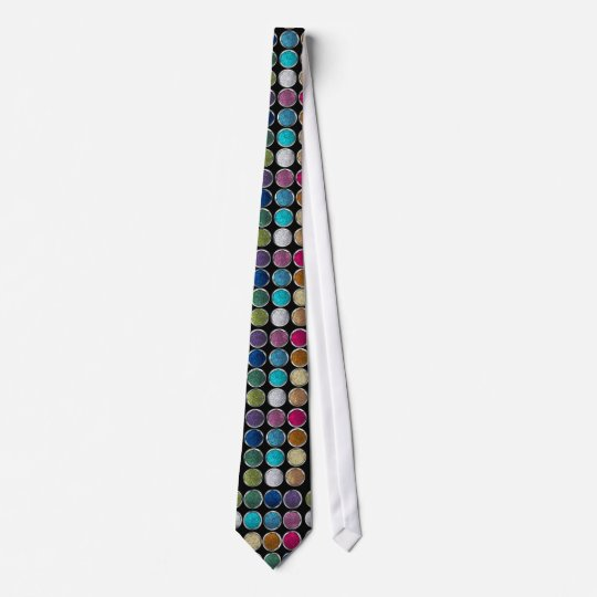 cool Fashionable shining colourful glitter eye sha Tie