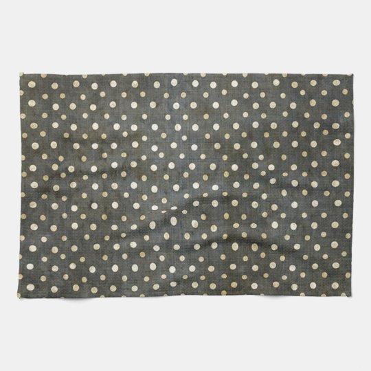 Cool fashionable white polka dots dark grey grunge