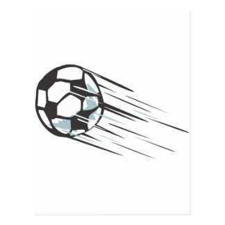 Cool Fast Speedy Soccer Ball with Trailing Postcard