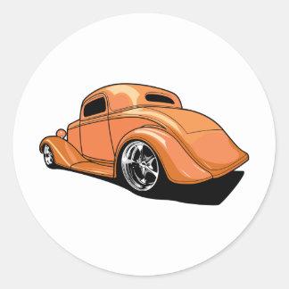 Cool Fat Fendered Street Rod Classic Round Sticker