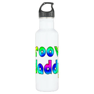 Cool Fathers Day & Hip Dads Birthdays Groovy Daddy 710 Ml Water Bottle