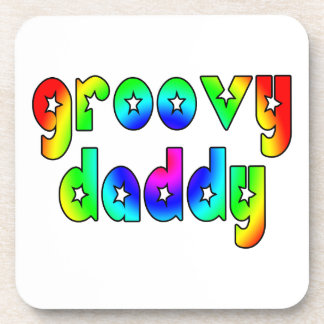 Cool Fathers Day & Hip Dads Birthdays Groovy Daddy Coaster