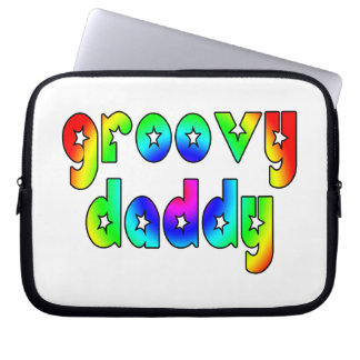 Cool Fathers Day & Hip Dads Birthdays Groovy Daddy Computer Sleeve