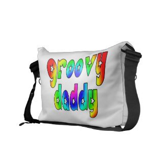 Cool Fathers Day & Hip Dads Birthdays Groovy Daddy Courier Bag