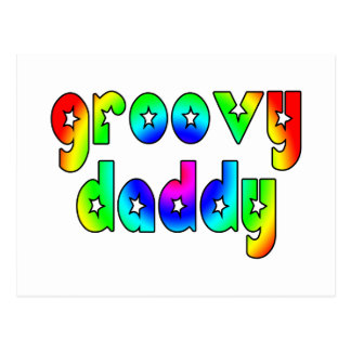 Cool Fathers Day & Hip Dads Birthdays Groovy Daddy Postcard
